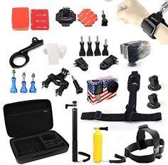 NEOpine Gopro Accessory Kit for Gopro Hero 4 3+ 3 Large Shockproof Carry Case+Floaty Grip+Monopod+Wrist Strap+Head Strap+Tripod Mount Adapter for SJCAM SJ4000 SJ5000 SJ6000 NEOPine http://www.amazon.com/dp/B014R5VCRS/ref=cm_sw_r_pi_dp_aXs7vb1ZS6JYN