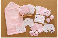 21 Pcs/Set Cotton Newborn Baby Clothing Set for Girls Boys Toddler Baby-clothes New Born Gift Set
