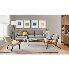 Jasper Sofa with Sanna Sofa & Delia Chair - Modern Living Room Furniture - Room & Board New Furniture, Living Room Furniture, Living Room Decor, Sofa Design, Modern Room, Modern Living, Bedroom Modern, Ottoman In Living Room, H & M Home