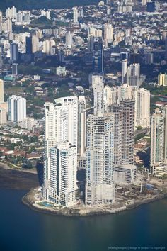 Aerial view of city, Panama City, Panama.