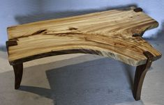 Tree Root End Table | wood coffee table has a unique 'feather' grain pattern where the tree ...