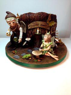 Forest Fairytale - Cake by Zlatina Lewis Cake International, Fab Cakes, Woodland Cake, Friends Cake, Sculpted Cakes, Designer Cakes, Flower Cakes, Gorgeous Cakes, Awesome Cakes