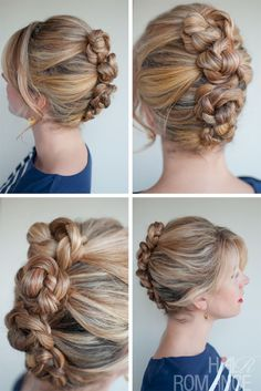 Romantic Easy Daily Hairstyle: French Roll Twist & Pin Braid | Hairstyles Weekly