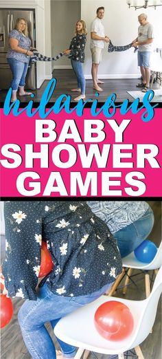20 Super Fun Baby Shower Games - Play Party Plan The most fun baby shower games ever! Tons of unique baby shower games, coed baby shower games, and more to keep your guests laughing! Baby Shower Simple, Otoño Baby Shower, Cadeau Baby Shower, Baby Shower Games Coed, Baby Shower Games Unique, Fiesta Baby Shower, Shower Bebe, Baby Games, Baby Shower Parties