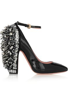 Rochas | Embellished patent-leather Mary Jane pumps | NET-A-PORTER.COM