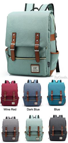 4e18baaeefb5 Retro Large Travel Backpack Leisure Leather Canvas Backpack Schoolbag