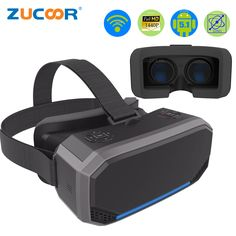 VR Box Virtual Reality Goggles Android All in one VR Glasses Helmet Video Movie Game Wireless Bluetooth Gamepad Computer Gadgets, Electronics Gadgets, Tech Gadgets, 3d Vr Box, Virtual Reality Goggles, Smart Bracelet, Cool Tech, All In One, Helmet