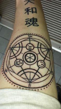 FMA tattoo! A transmutation circle is going on my body