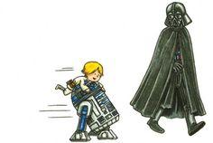 What kid doesn't want to >:) Star Wars Meme, Leia Star Wars, Star Wars Fan Art, Darth Vader And Son, Cuadros Star Wars, Calvin And Hobbes Comics, Star Wars Tattoo, Last Jedi, Sci Fi Movies