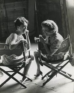Joan Crawford & Bette Davis, set of Whatever Happened to Baby Jane?