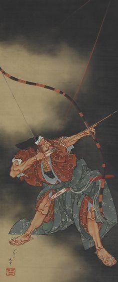 Minamoto no Yorimasa Aiming an Arrow, Katsushika Hokusai (Japanese, Tokyo (Edo) 1760–1849