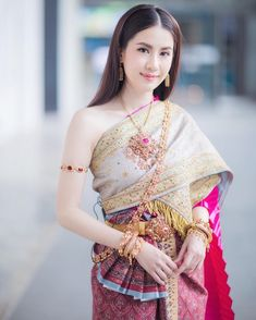 Traditional Thai Clothing, Traditional Dresses, Pink Colour Dress, Thai Wedding Dress, Pink Sundress, Thai Dress, Thai Style, Pink Outfits, Vogue Magazine