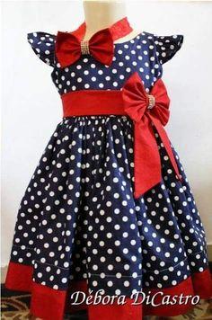 Polkadot dress it's Beautiful for my princess Mom Dress, Baby Dress, Little Girl Dresses, Girls Dresses, Toddler Fashion, Kids Fashion, Girls Frock Design, Baby Girl Party Dresses, Baby Girl Dress Patterns