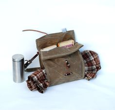 The Musette in Tan Waxed Canvas. via Etsy shop sketchbook