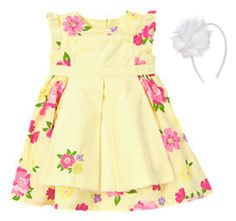 NWT Gymboree SPRING CELEBRATIONS, Flower Dress & Headband   Available in our online store at http://stores.ebay.com/starbabydesignshomestore