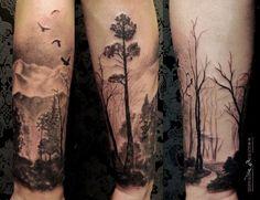 Trees and tree tattoos on Pinterest   Tree Tattoos, Pine Tree and ...