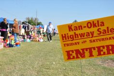 This coming weekend, the Kan-Okla 100 Mile Highway Sale spans a 100-mile trail through southeast Kansas and northeast Oklahoma. Shop for antiques and vintage finds as well as western gear and collectibles. When: September 11 and 12. Website: www.kanoklahighwaysale.net