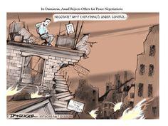 """Le dessin du jour : """"Ophtalmo et aveugle"""" par Danziger #syrie"""