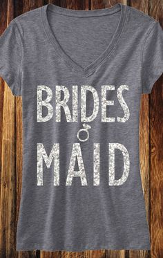 Cute Silver Glitter #Bridesmaids Shirts. Buy 2 save 10%, buy 4 save 15%, buy 8+ save 20%. Click here to buy http://mrsbridalshop.com/collections/bridesmaids/products/bridesmaid-shirt-with-silver-glitter-print