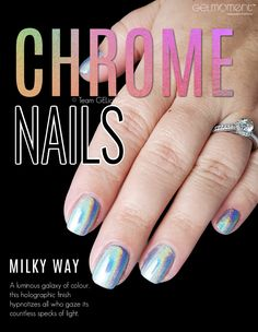 Chrome nails you can do at home!? Yes please! Recently released from GelMoment. #gelmoment #gelpolish #chromenails #chromemanicure