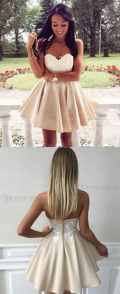 Cute sweetheart homecoming dresses, cheap a- line fashion dresses, chic party gowns.