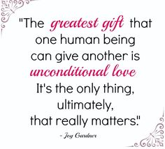 Unconditional Love #Quote