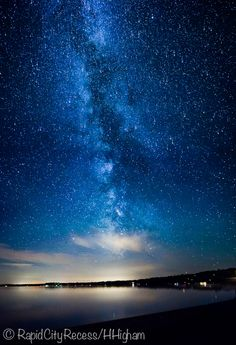 Milky Way over North Torch Lake, Michigan. WOW!