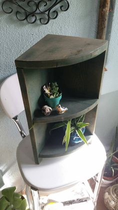 Check out this item in my Etsy shop https://www.etsy.com/listing/208468252/shabby-chic-rustic-3-tiered-corner-shelf