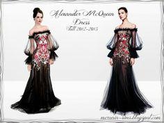 Alexander McQueen Fall 2012-2013 – Sims 3 Dress by Meronin at Outland – Social Sims