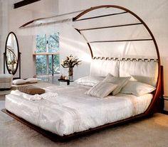 Décoration-dun-lit-baldaquin-moderne