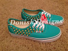 Custom Studded Vans Shoes by DonishDesigns on Etsy