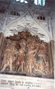 Johannes de Doper.. 1531. Steensculptuur kooromgang. Frankrijk, Armiens, kathedraal Notre Dame. Johannes verwijt Herodes zijn onwettige verhouding met Herodias (Marcus 6, 17-18).