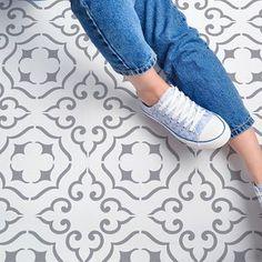 Large Wall Stencil, Large Stencils, Moroccan Stencil, Moroccan Design, Stenciled Floor, Floor Stencil, Scandinavian Tile, Stencils Uk, Expensive Wallpaper