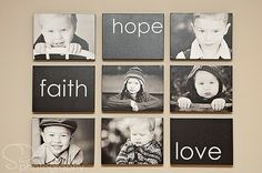 25 Cool Ideas To Display Family Photos On Your Walls design home design room design interior design interior design 2012 Canvas Groupings, Photowall Ideas, Display Family Photos, Display Pictures, Displaying Photos On Wall, Display Ideas, Family Pics, Faith In Love, Cool Ideas