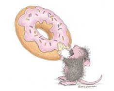 """""""Donut"""" from House-Mouse Designs®. This image was recently purchased as a rubber stamp. Click on the image to see it on a bunch of other really """"Mice"""" products."""