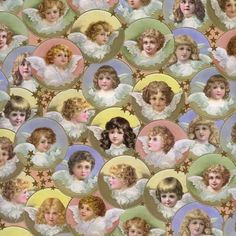 Pastel Victorian Angels Specialty Paper ~ Germany