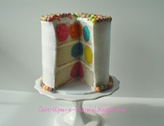 How To Bake Colorful Polka Dots Inside A Cake.