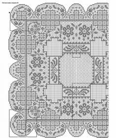 View album on Yandex. Filet Crochet Charts, Crochet Diagram, Crochet Motif, Knit Crochet, Crochet Patterns, Thread Crochet, Crochet Stitches, Crochet Table Topper, Crochet Dollies