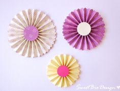 Tutorial: Coccarde di carta - DIY Rosette