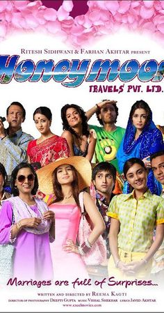 Directed by Reema Kagti.  With Ranvir Shorey, Dia Mirza, Abhay Deol, Minissha Lamba. Six newly-married, diverse, honeymooning couples face marital bliss and discord, finding out more about themselves, their significant others and life in this happy-go-lucky, quirky drama.