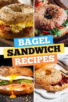 Pesto Sandwich, Sandwich Recipes, Blueberry Bagel, Smoked Salmon Bagel, Bagel Breakfast Sandwich, Cheese Bagels, Bagel Recipe, Turkey Sandwiches, Everything Bagel