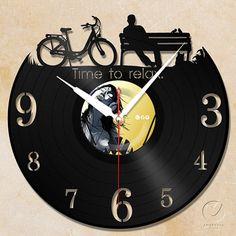 Time To Relax....vinyl Wall Clock U003c3