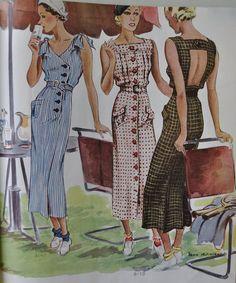 Fashion Ilustration Vintage Illustrators Sewing Patterns Ideas For 2019 Vintage Dress Patterns, Dress Sewing Patterns, Vintage Dresses, Nice Dresses, Vintage Outfits, 1930s Fashion, Art Deco Fashion, Retro Fashion, Vintage Fashion