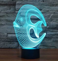 coral reef fish touch switch LED lamp,Visual Illusion changing USB for laptop,Christmas cartoon toy lamp