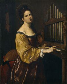 Antiveduto Gramatica, o della Grammatica (Siena, 1571-Roma, 1626), Santa Cecilia,  Museo del Prado, Madrid