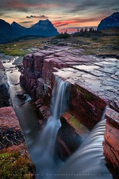 Triple Falls, Glacier National Park, Montana~!!!