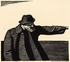 Ahab, illustration by Rockwell Kent, for the 1930 edition of Moby Dick.