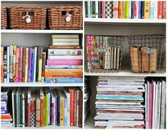 Heather Bullard's Office detail of bookcases ~~