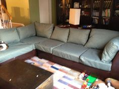 Reupholstered Couch Tutorial   Crafty DIYs