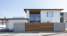 Wood Fence Design, Modern Fence Design, Front Gate Design, Modern House Design, Minimalist Architecture, Facade Architecture, Style At Home, Japanese Modern House, Kleiner Pool Design